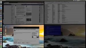 Four desktops - four work areas